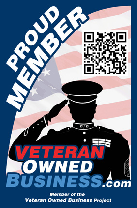 Proud Veteran Owned Business Member Vertical Badge Logo