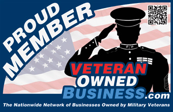 Proud Veteran Owned Business Member Horizontal Badge Logo